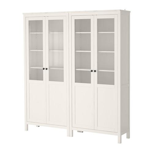 IKEA - HEMNES, Vitrine, weiß gebeizt, Möbelideen Pinterest - wohnzimmer vitrine weis