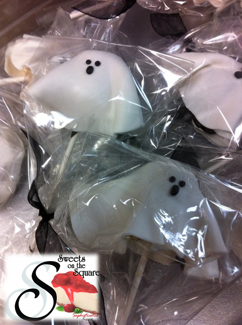 Ghost lollicakes! Made from scratch just like everything else! - Sweets on the Square in Lawrenceville, GA