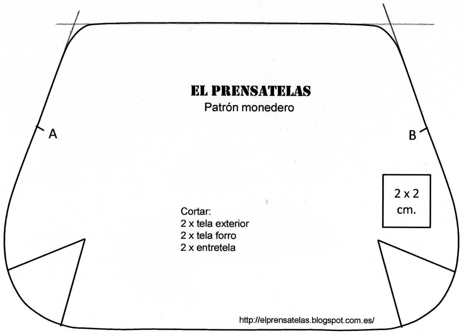 El Prensatelas: Reciclando patrones: Cartera cremallera | Carteras ...