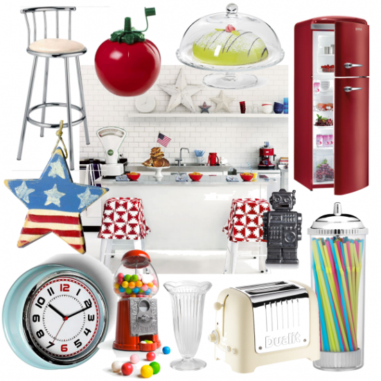 embrace classic americana with these fab diner style kitchen accessories  embrace classic americana with these fab diner style kitchen      rh   pinterest com