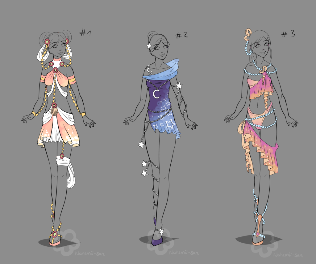 Fantasy Design Adopts 4 Sold By Nahemii San On Deviantart Fantasy Clothing Art Clothes Anime Outfits