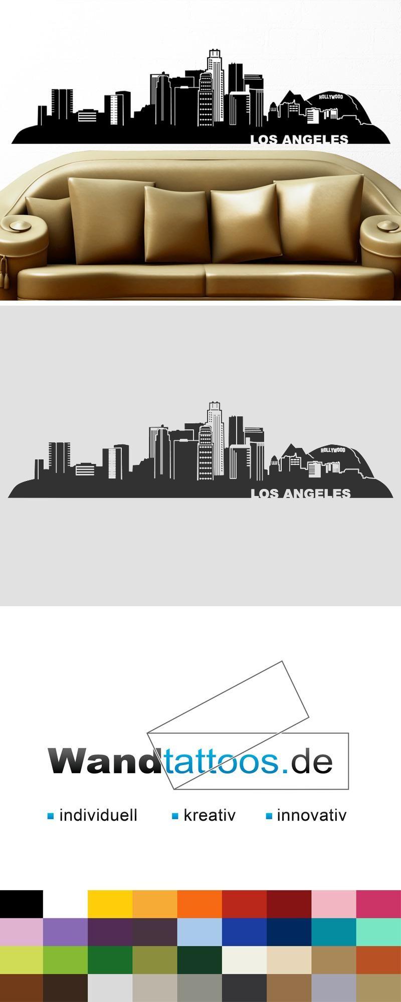 Genial Wandtattoo Köln Foto Von Los Angeles Skyline Als Idee Zur Individuellen
