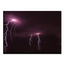 Kurt Shaffer 'Lake Lightning' Canvas Art