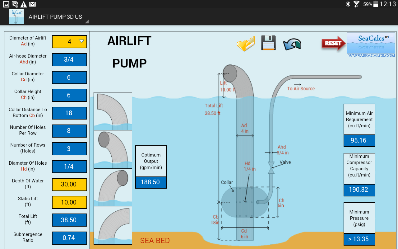 SeaCalcs Marine Apps Airlift Pump 3D DEMO... Watch on