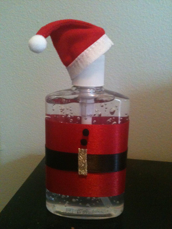 Santa Tizer Hand Sanitizer 5 00 Via Etsy Diy Sanitisers