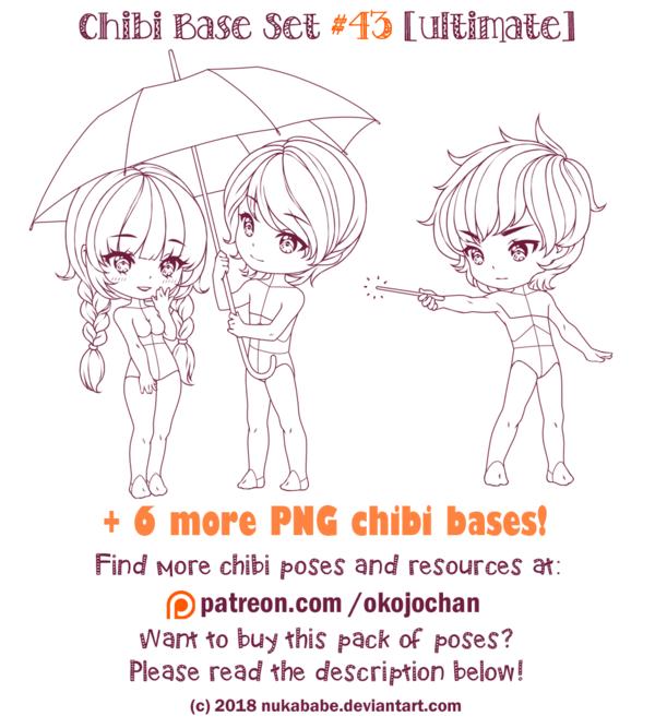 Chibi Pose Reference (Ultimate Chibi Base Set 43) by