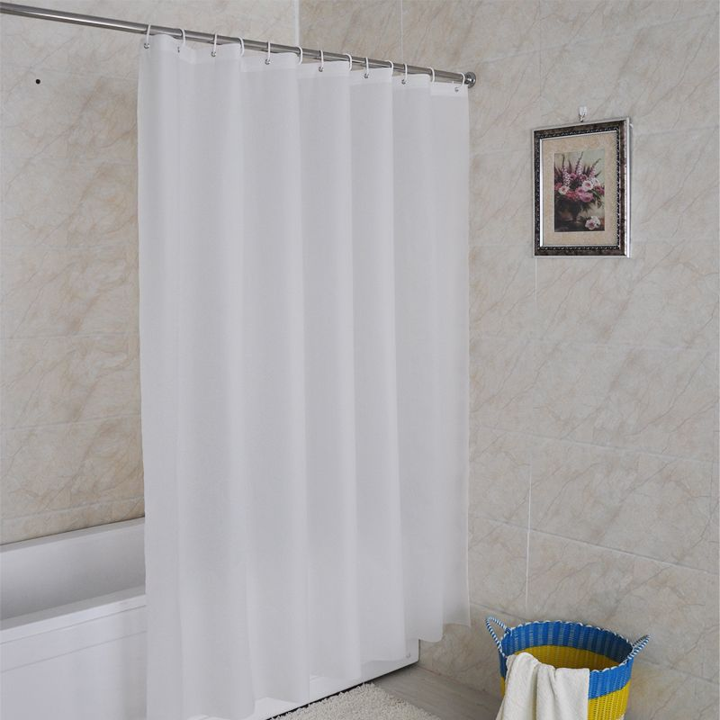 Solid White Pattern Customized Peva Shower Curtain Waterproof