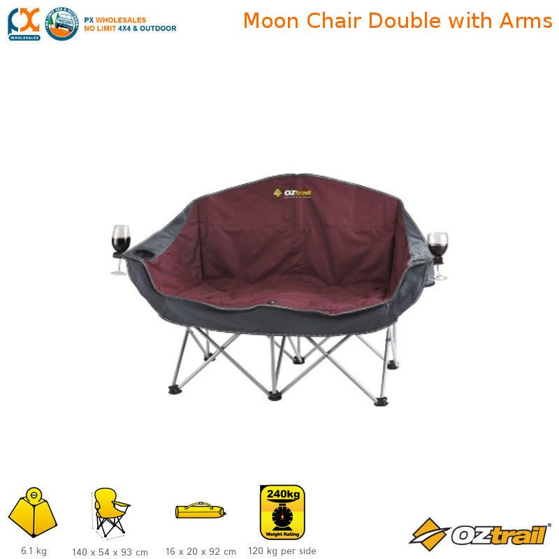 Magnificent Oztrail Double Moon Twin Galaxy Sofa Folding Chair Camping Customarchery Wood Chair Design Ideas Customarcherynet