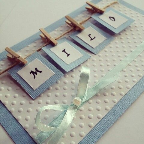 DIY kort til barnedåb/DIY card for my nephew's christening