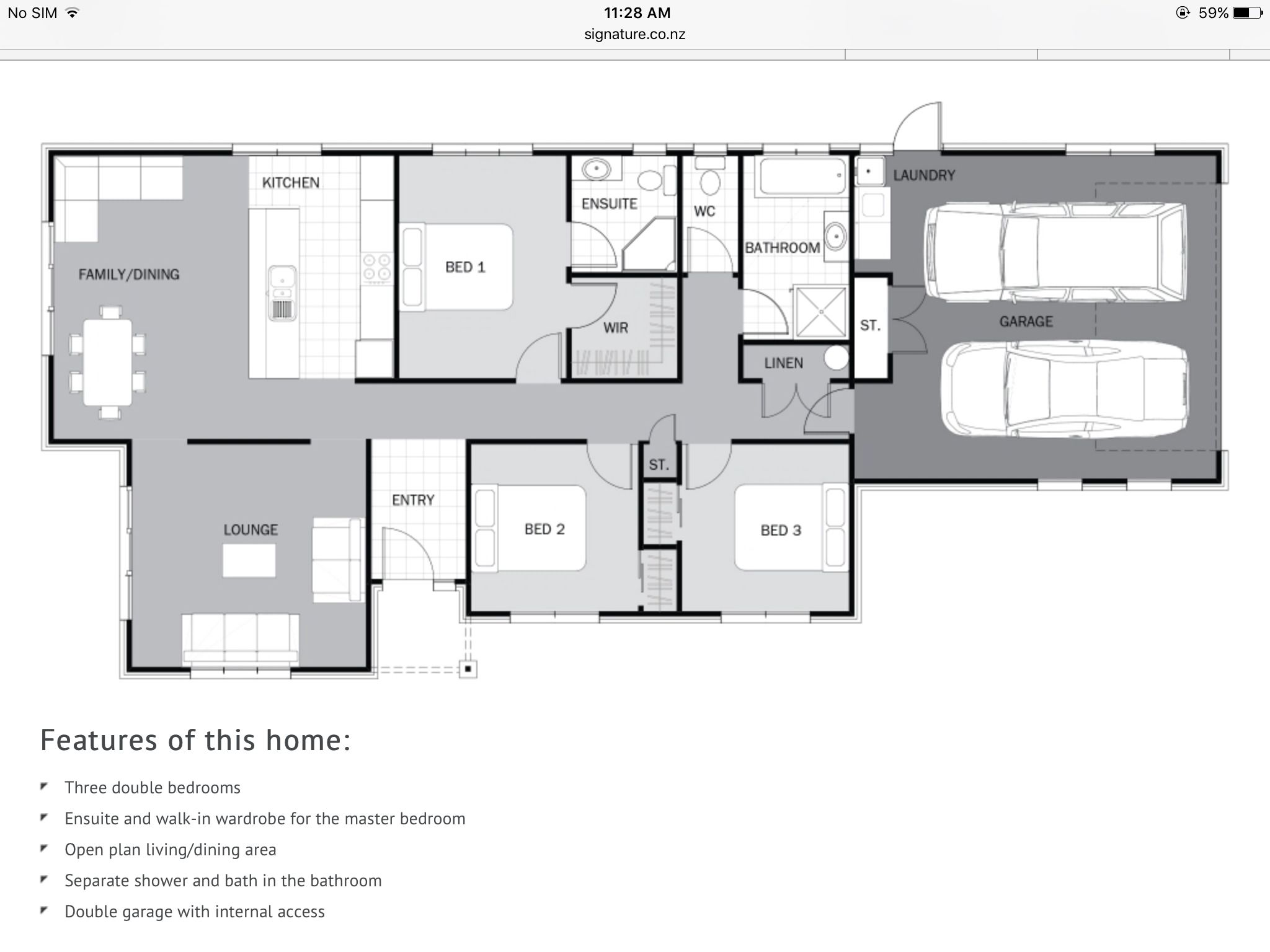 House Plans New Zealand. Classic and simple Basement