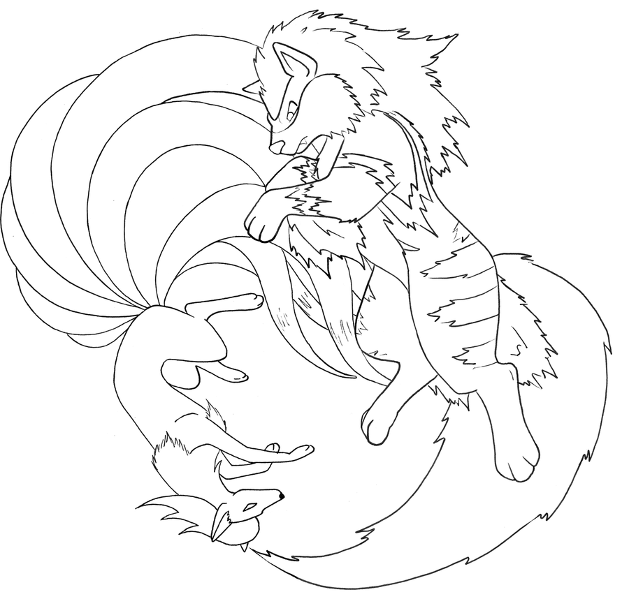Ninetales And Arcanine Line By Therainedrop Pokemon Coloring Pages Pokemon Coloring Sheets Pokemon Coloring