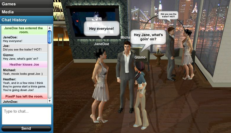 Collection of free games in virtual world games virtual