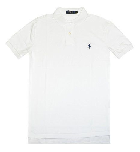 Polo Ralph Lauren PIMA SOFT TOUCH - Camiseta manga larga - black/white 8CePRrfG