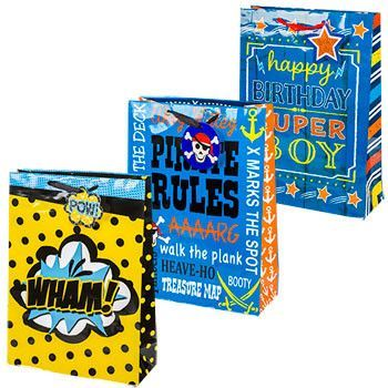 Extra Large Whimsical Happy Birthday Gift Bags