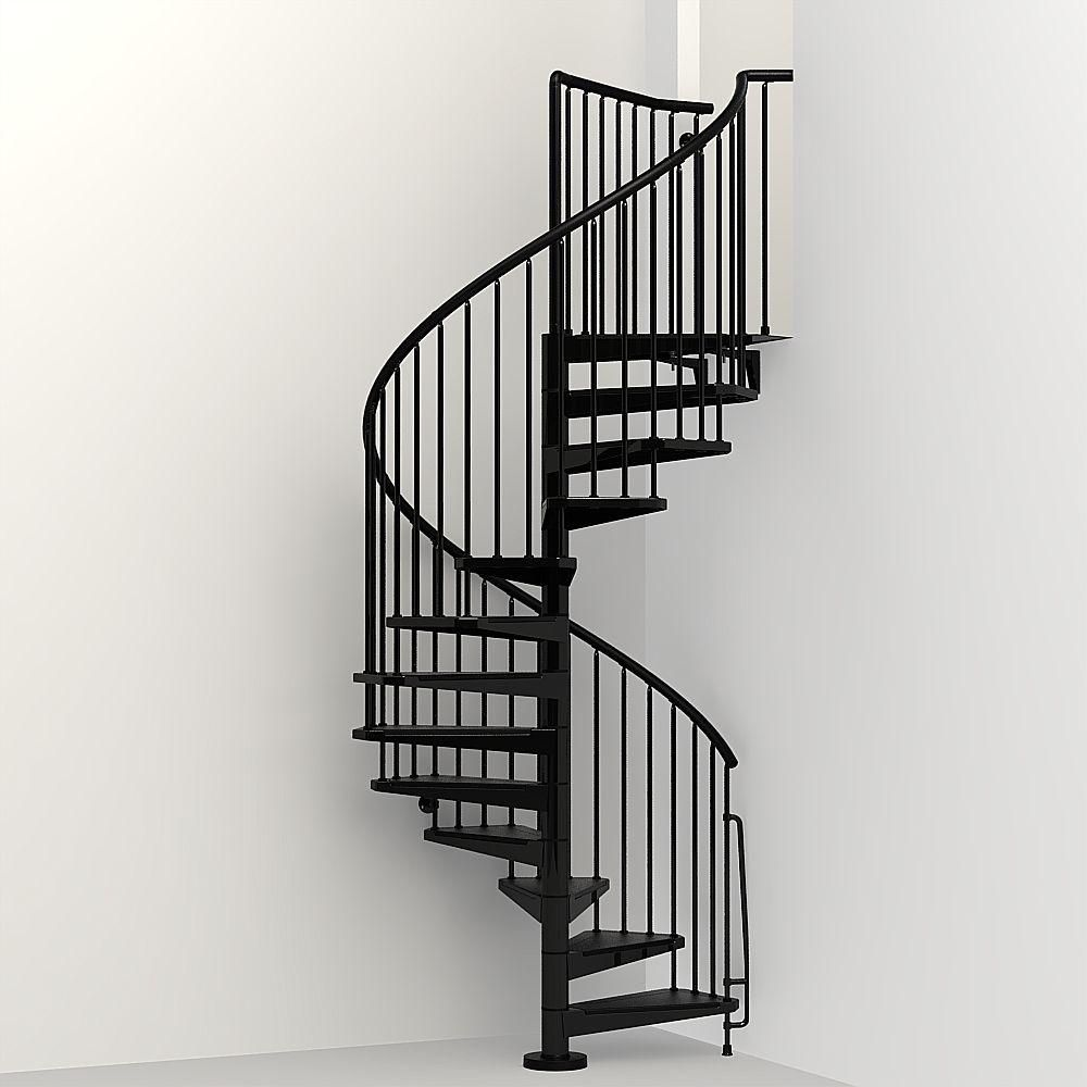 Best Arke Civik 63 In Black Spiral Staircase Kit Spiral 400 x 300