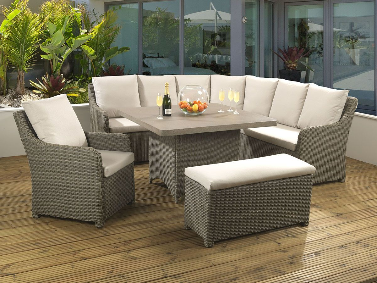 Atlanta Lavastone Table Casual Dining Set Wicker Patio Furniture Sets Best Outdoor Furniture Summer Classics Outdoor Furniture