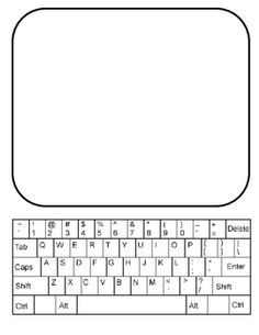 free template of a computer screen google search back to school
