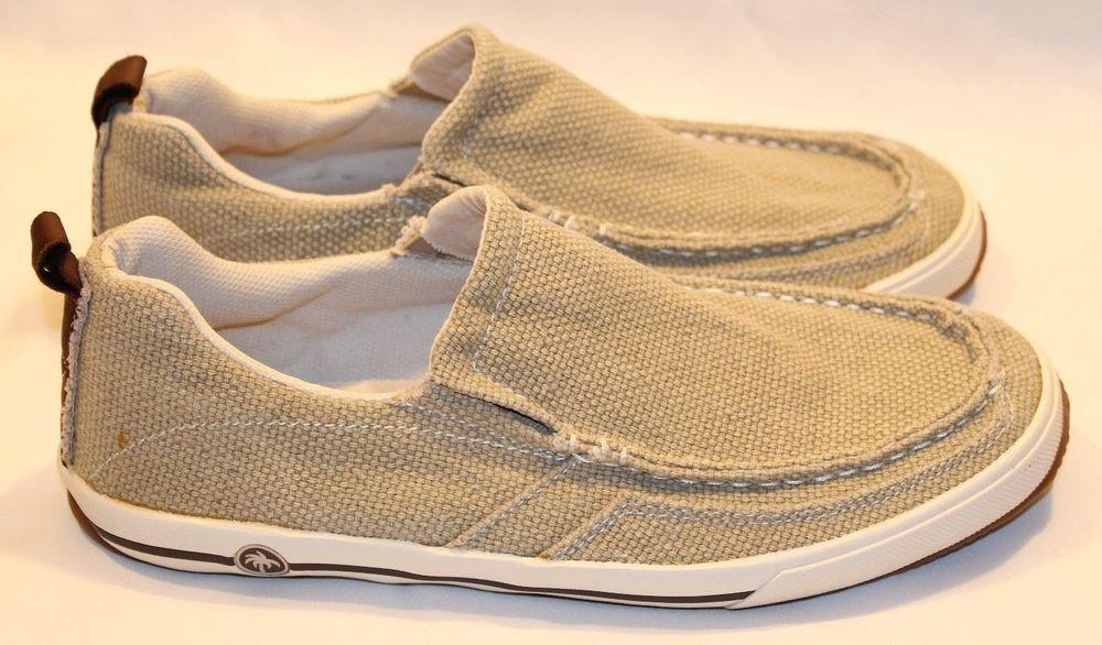 Margaritaville Loafers Mens Size 11 M Barbados Canvas Comfort Slip On Boat  Shoes  Margaritaville  BoatShoes 5af67980367