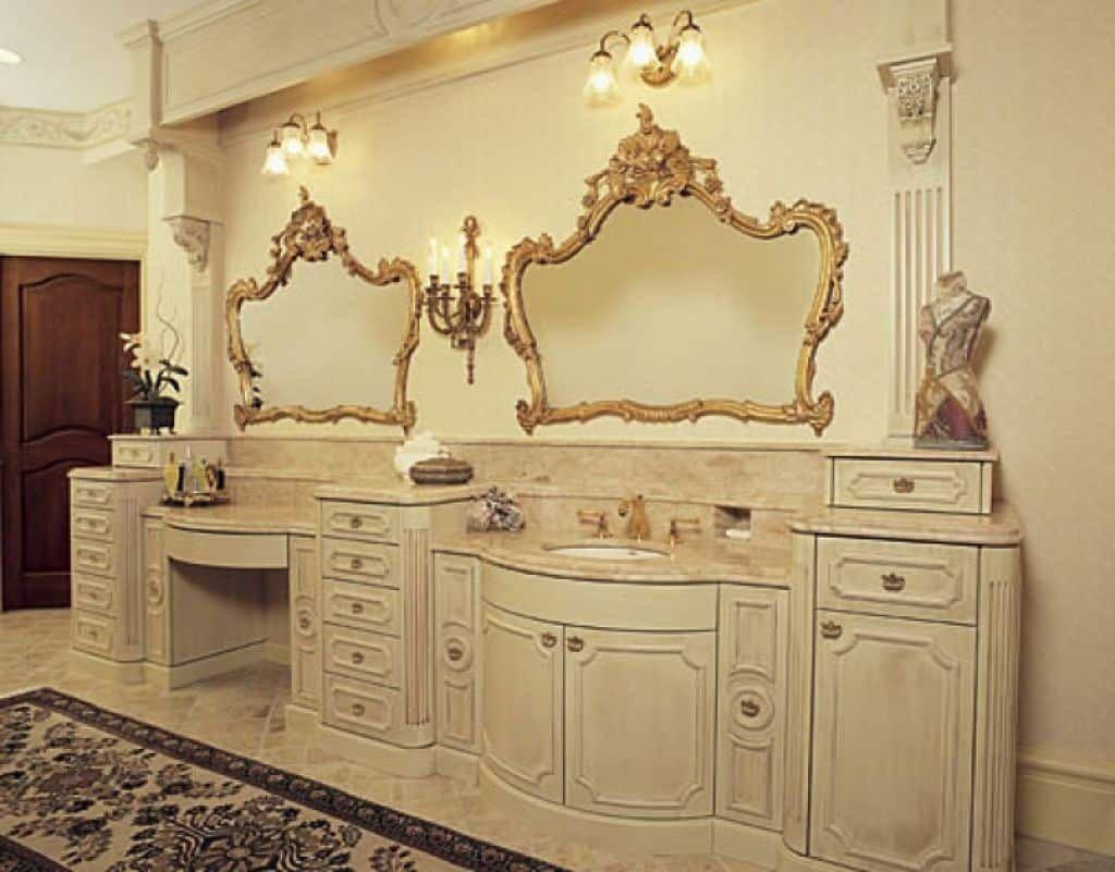Graceful Timeless Victorian Furniture Style Fancy Bathroom