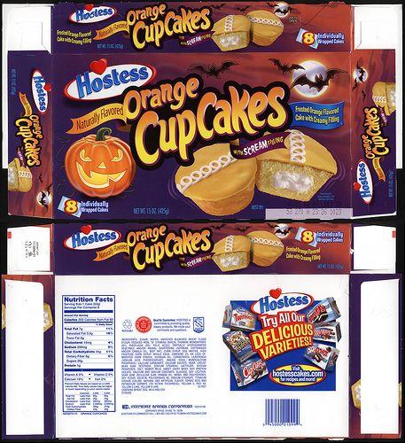 Hostess - Monster Cakes cupcakes box - free Jack-O-Lantern ...