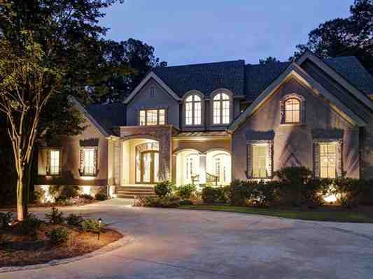 Very private, beautifully designed estate #home Exceptional architectural details.""