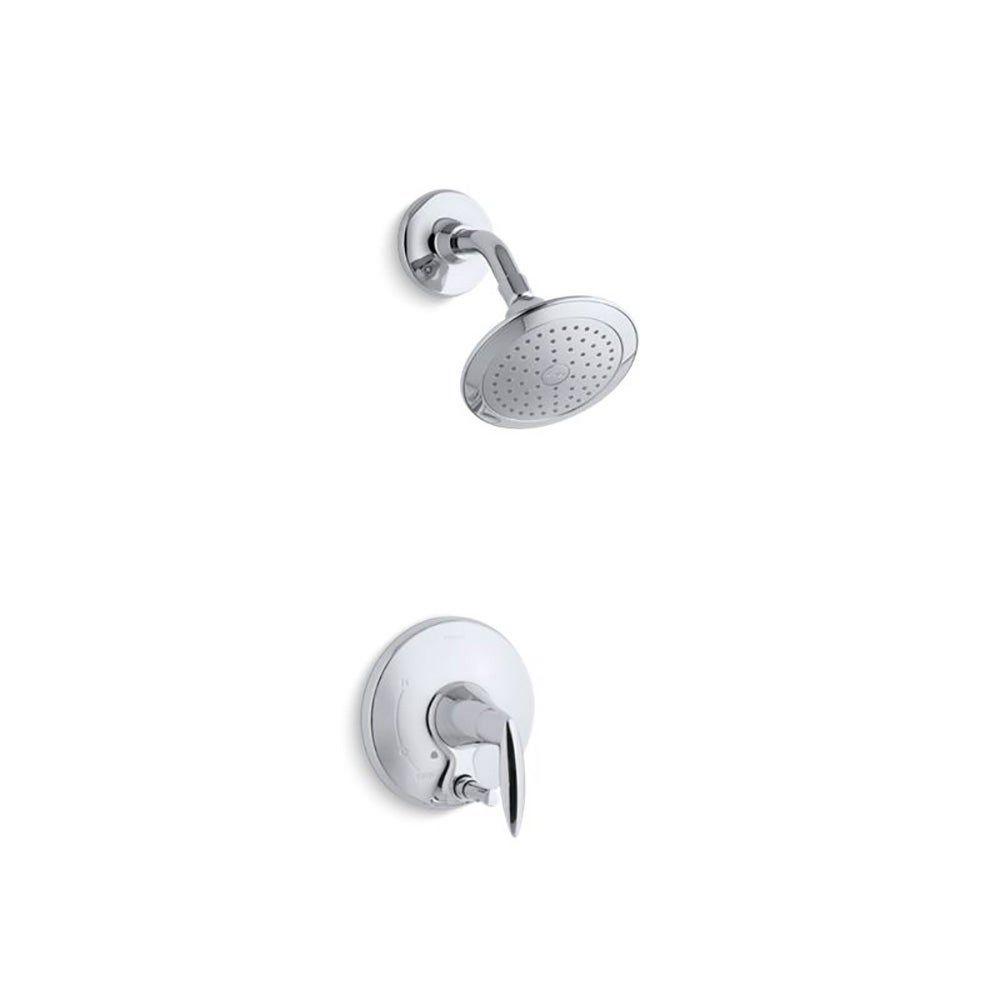 Photo of Kohler Alteo Duschverkleidungsset mit Druckknopf-Umschaltventil Nicht im Lieferumfang enthalten Poliertes Chrom