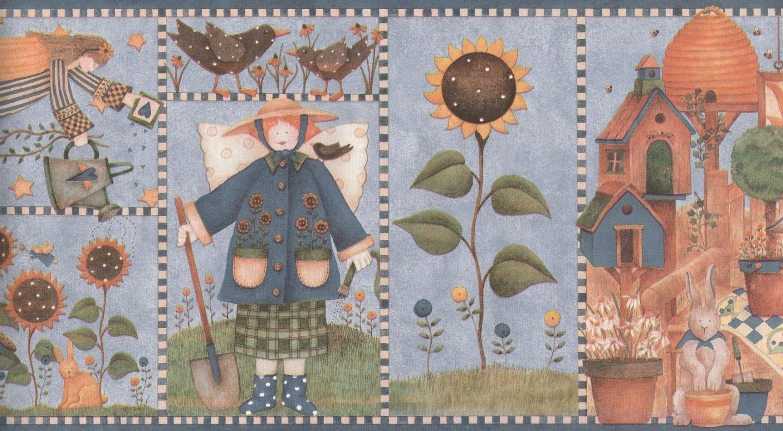Kitchen Wallpaper Border Full Hd Debbie Mumm Country Kitchen Angel Wallpaper Border Ebay