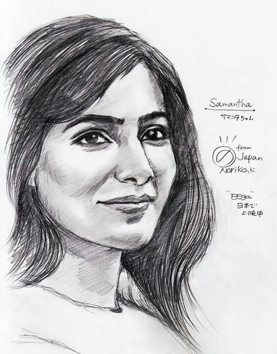 Fascinating Pencil Portrait Sketch Of Stunning Samantha Ruth Prabhu Done By Fan Tastic Artist Fan Portrait Sketches Celebrity Drawings Girl Drawing Sketches