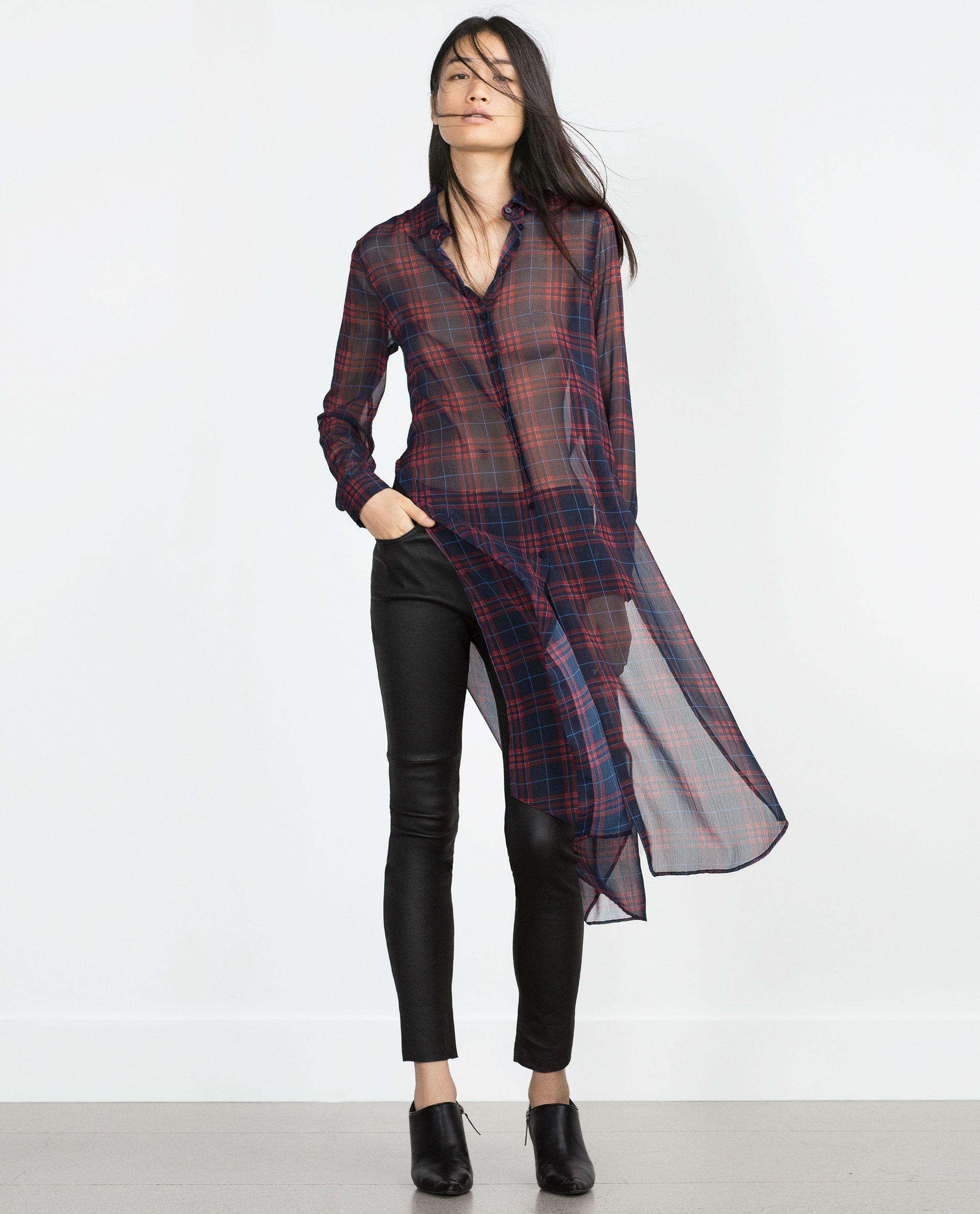 Chaise longue Impuestos Fresco  CAMISA LARGA ESTAMPADA - Ver todo - Camisas - MUJER | Lange blouse, Blouse,  Blouses