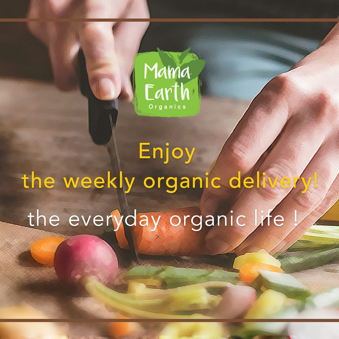 Enjoy the weekly organic delivery!🍎🍒🍉 mamaearth organics