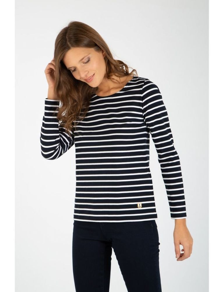 later undefeated x online here Armor Lux Breton Striped T Shirt Blue Size XL LF181 KK 09 ...