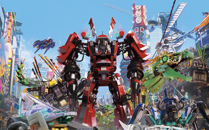 Download wallpapers The LEGO Ninjago Movie, 2018, Kai, Michael ...