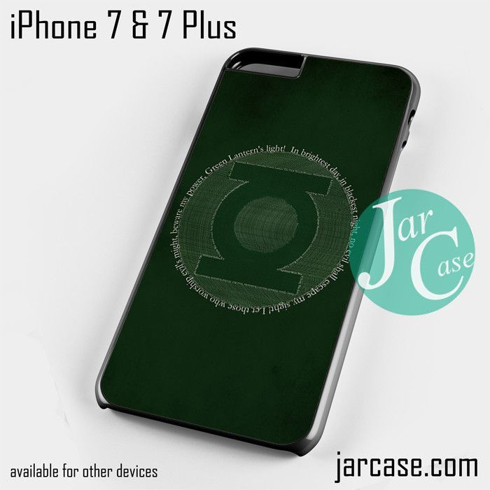 Green Lantern Logo YD Phone case for iPhone 7 and 7 Plus