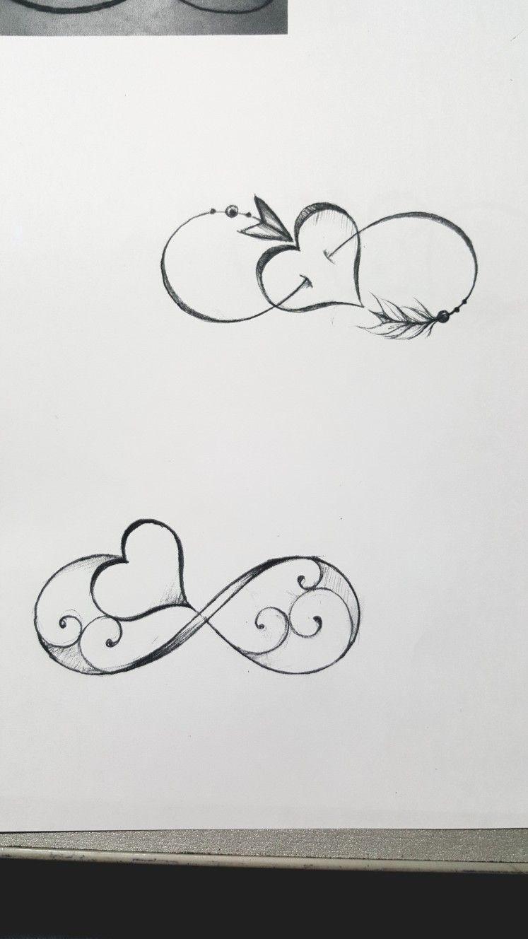 Tatuaggio Infinito Con Cuore Infinite Tattoo Infinity Tattoos