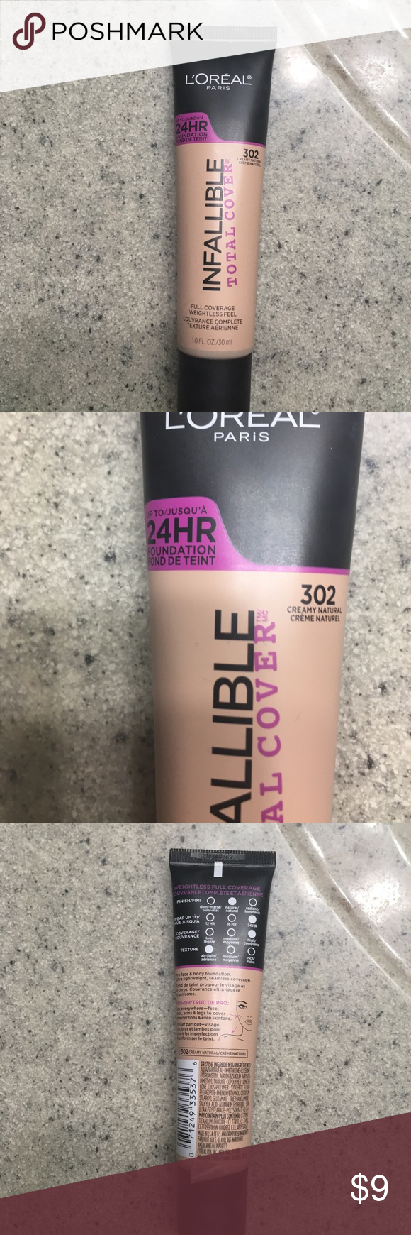L'Oréal Infallible Total Coverage Foundation 302 Creamy