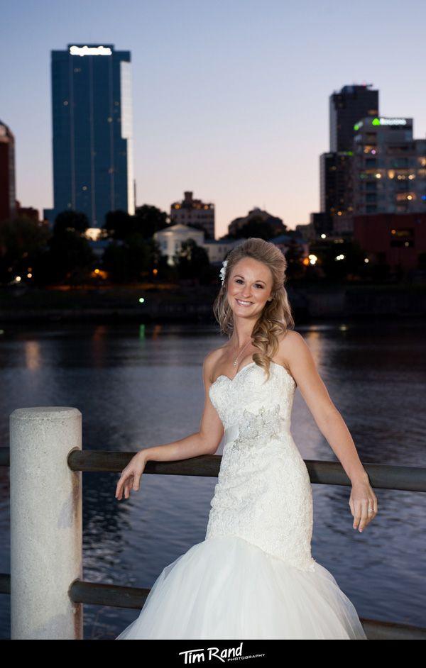 Little Rock Skyline Bridal Portrait