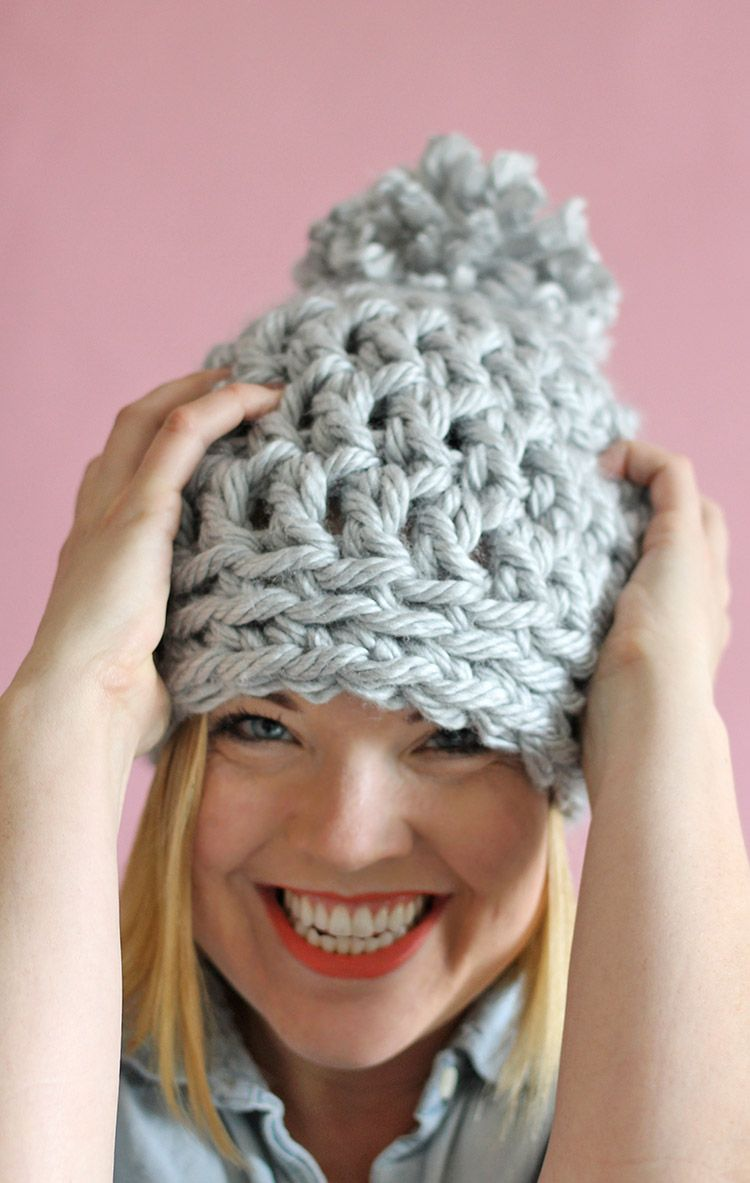 30 minute easy chunky crochet beanie chunky crochet free easy chunky crochet mainly double crochet 1 row of single crochet beanie a 30 minute hat free pattern from persia lou bankloansurffo Images