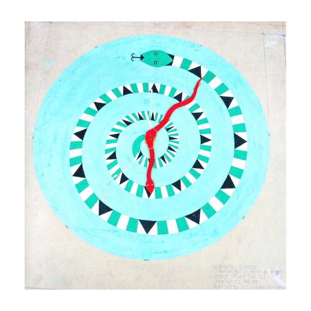 Blueprint for painted wall clock by alexander girard from the vitra blueprint for painted wall clock by alexander girard from the vitra design museum archive malvernweather Images