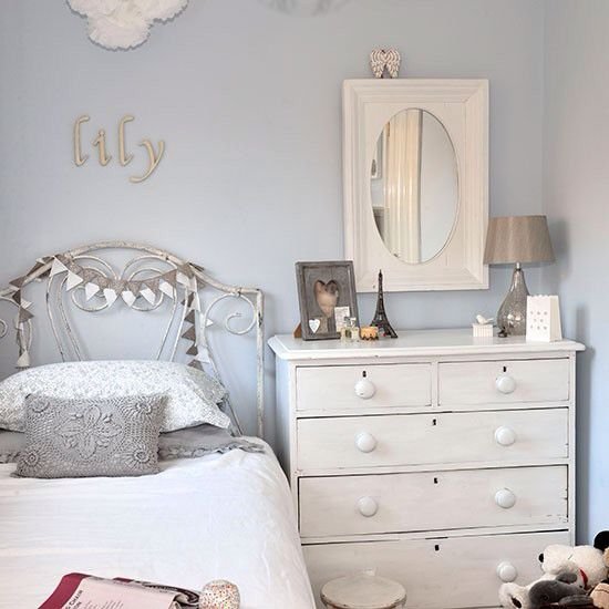 Pale Blue And White Girls Bedroom In 2019 Girls Bedroom