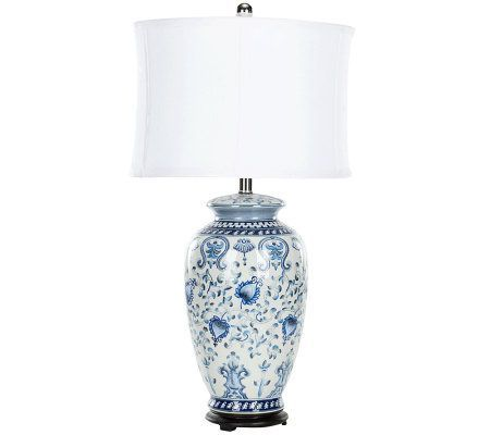 Safavieh Blue and White Table Lamp — QVC.com | Blue and ...