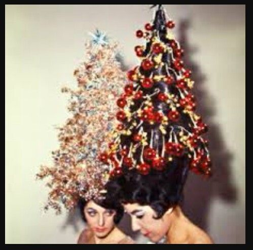 Christmas Hair Christmas Tree Hair Christmas Tree Hat Vintage Christmas Photos