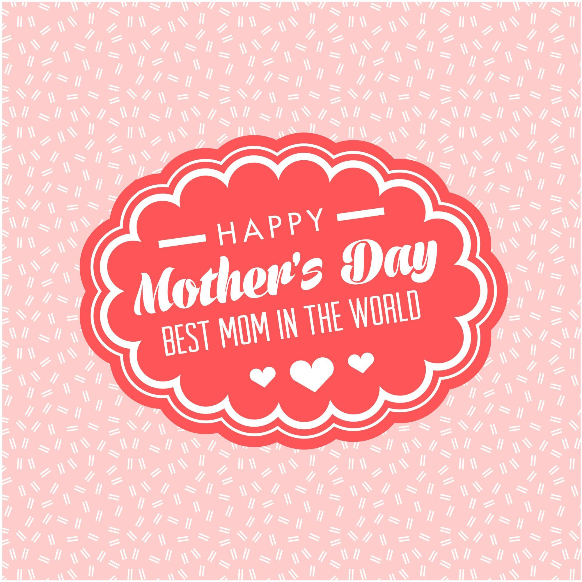 Happy Mothers Day Best Design Greeting Card