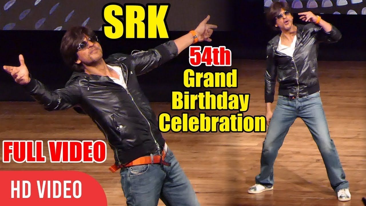 UNCUT Shahrukh khan 54th Grand Birthday Celebration With