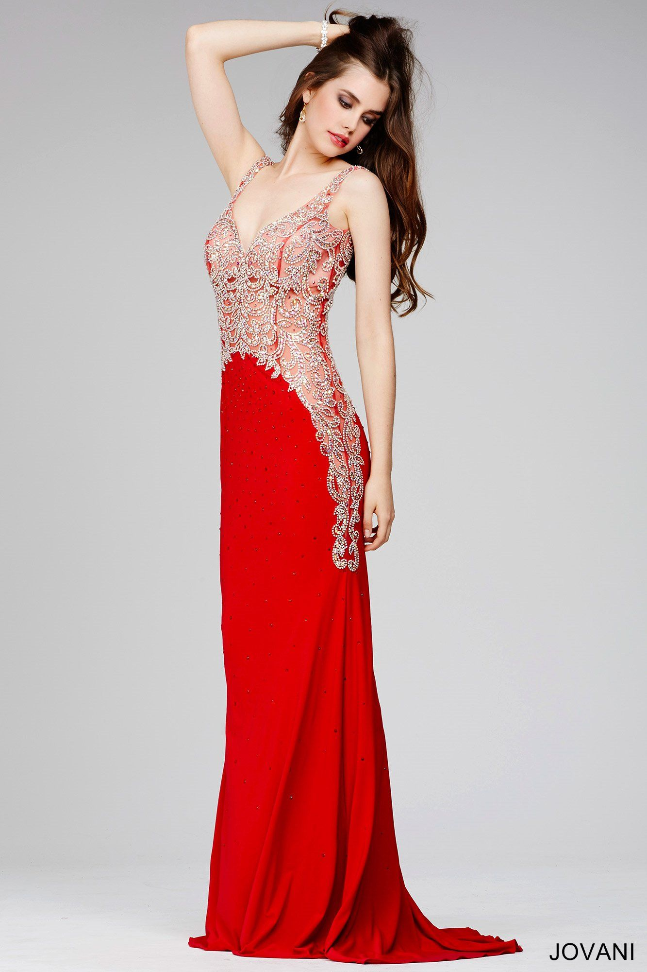 Sleeveless red prom dress cool stuff to buy pinterest