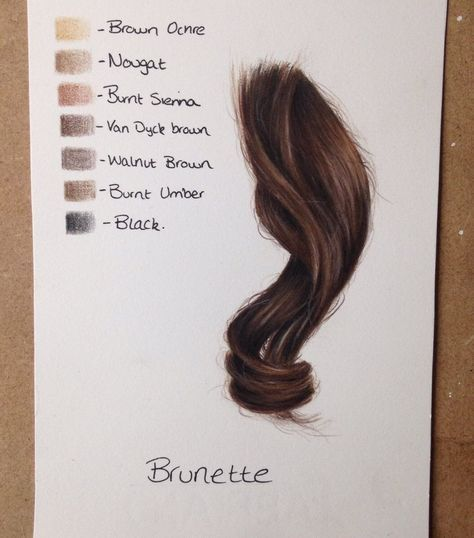 Hair Color Palette Pencil Portrait Pencil Drawings How To Draw Hair
