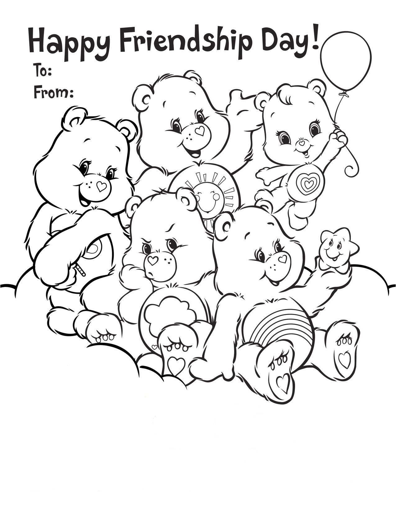 Best Happy Friendship Day Drawing, Coloring Pages for