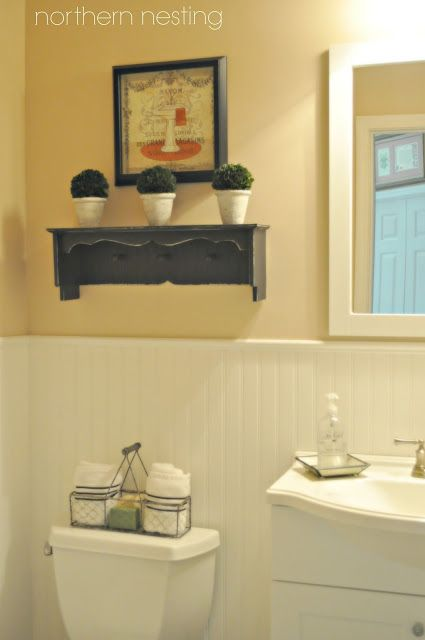Easy updates to a powder room!