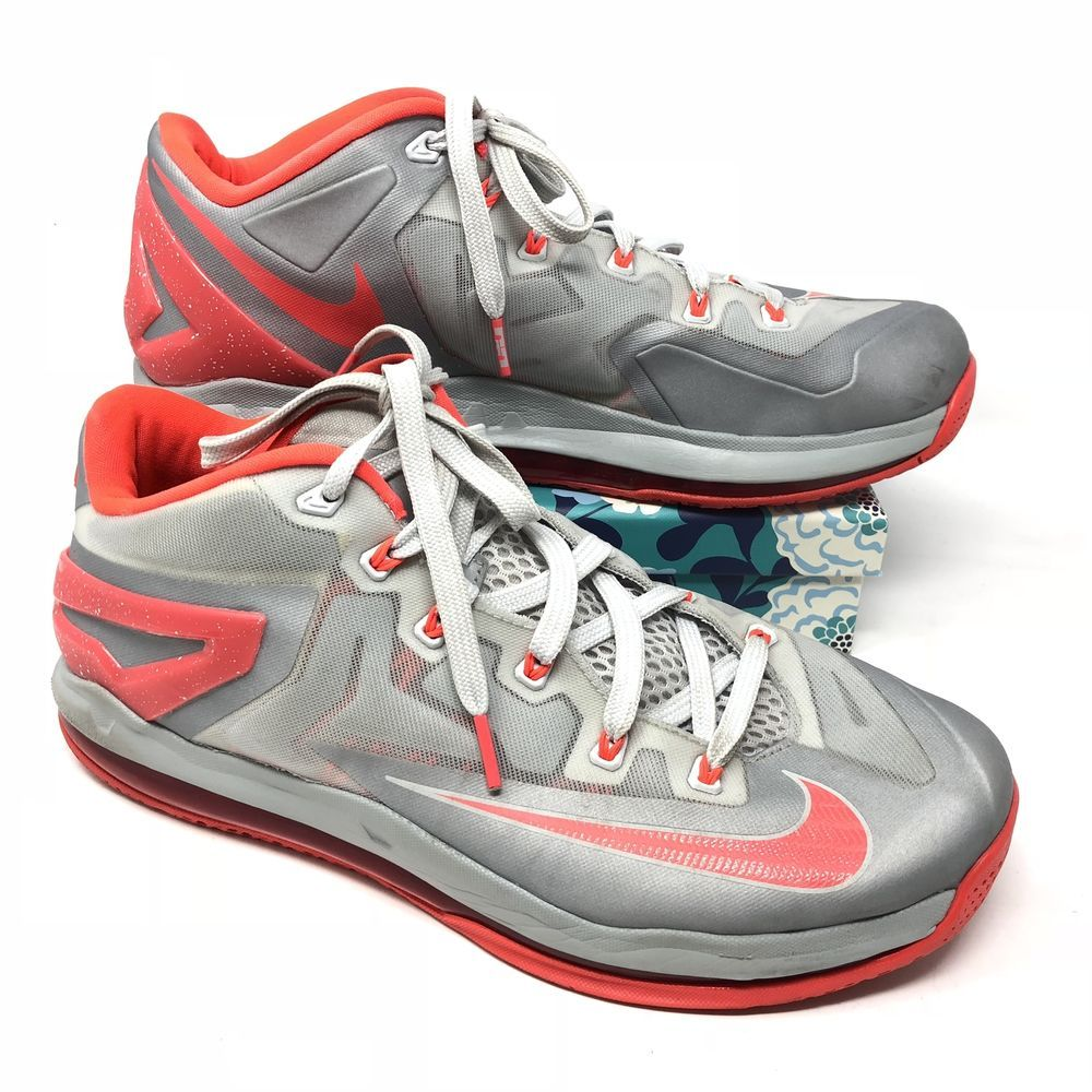 the latest acb94 6fe9b Men s Nike Air Max Lebron 11 Size 10.5 Sneakers Shoes Basketball Gray Orange  Q7  fashion