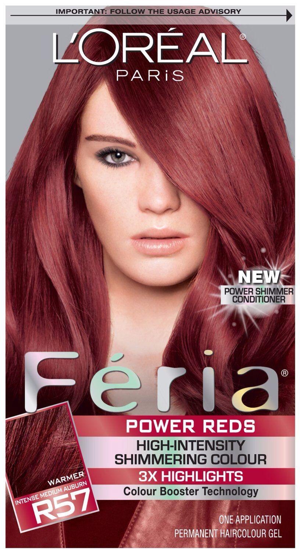 Loreal Feria R57 Intense Medium Auburn Hair Pinterest Auburn