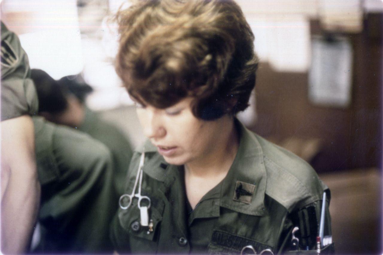 A 1st Lieutenant Of The Army Nurse Corps At 91st Evac Hospital